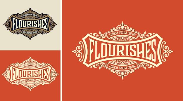 Modello di logo con design dettagliato