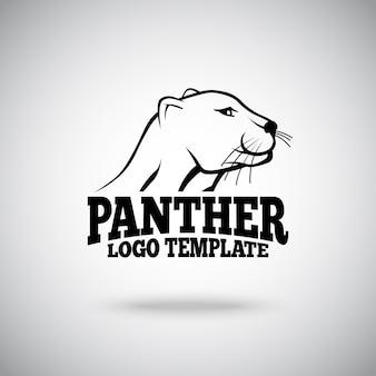 Modello di logo con illustrazione della pantera