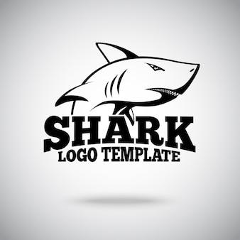 Modello di logo con shark, per squadre sportive, marchi, ecc.