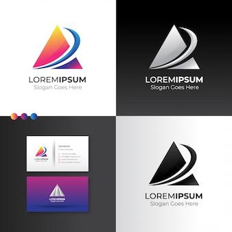 Estratto di triangolo logo con segno di crescita