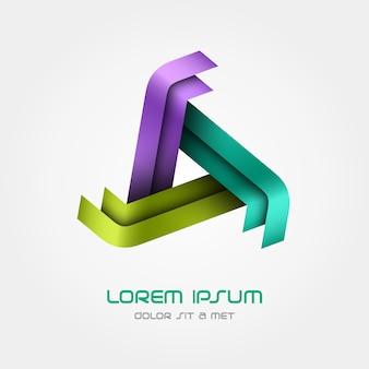 Modello triangolo logo, logotipo in loop.