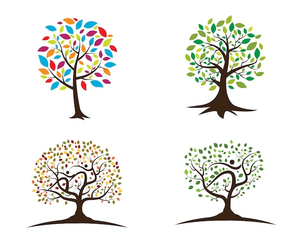 Loghi di ecologia verde foglia verde
