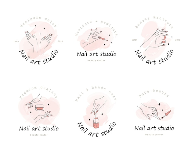 Logotipo per nail art studio.