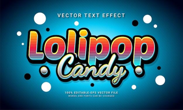 Menu di cibi dolci a tema effetto stile testo modificabile caramelle lolipop