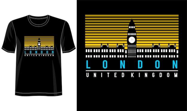 Design londinese per maglietta stampata e altro ancora