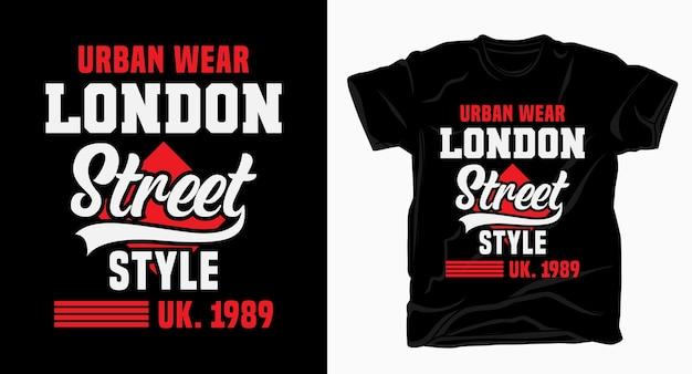 Tipografia di street style di londra per il design della maglietta