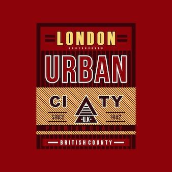 Linee grafiche della città urbana di londra