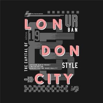 Illustrazione di tipografia della cornice di testo in stile urbano di londra buona per la maglietta stampata