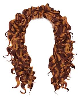 Lunghi capelli ricci rossi colors.wig.