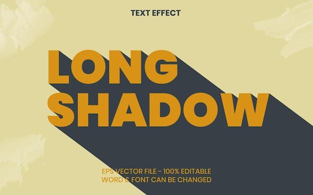 Effetto testo ombra lunga stile vintage effetto testo modificabile