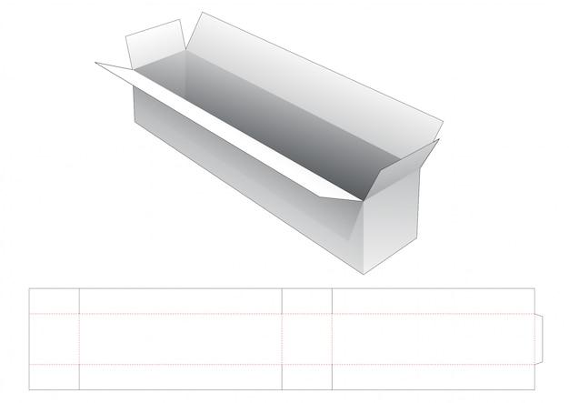 Modello fustellato lungo scatola di spedizione