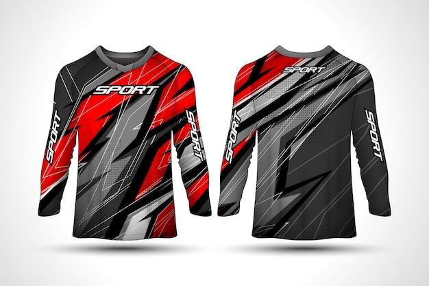 Modello di design t-shirt a manica lunga, jersey da motociclista sportivo da corsa, design della camicia