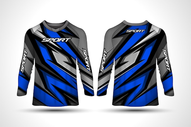 Modello di design t-shirt manica lunga, maglia da motociclista sportiva da corsa