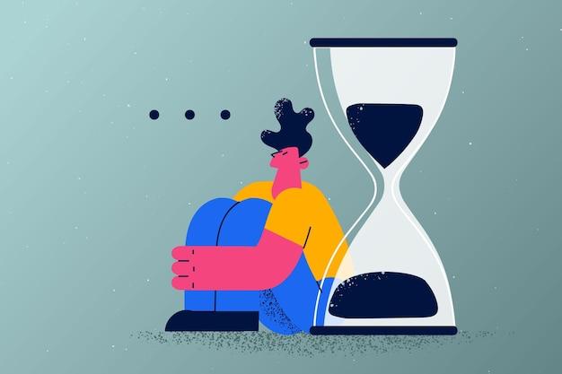 Concetto di appuntamento con ritardo di lunga attesa