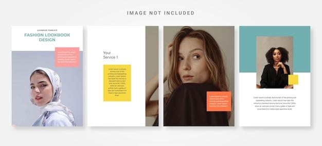 Lookbook fashion design template vettoriale