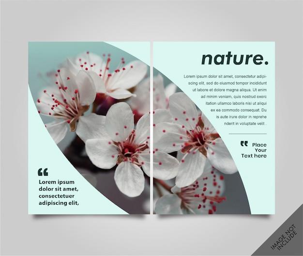Lookbook flyer nature pagina senza cuciture