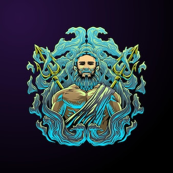 Illustrazione del signore del mare