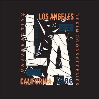 Los angeles beach california abstract graphics design tipografia t shirt vettori