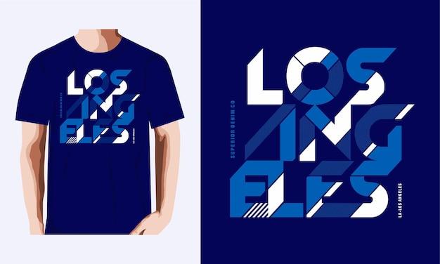 T-shirt di los angeles e design di abbigliamento