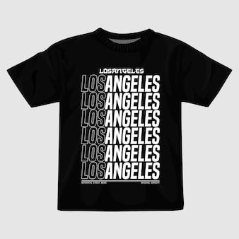 Disegno della maglietta vettoriale di los angeles