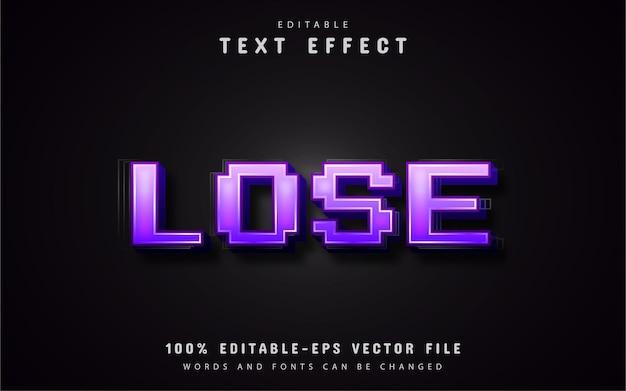 Perdi l'effetto di testo pixel