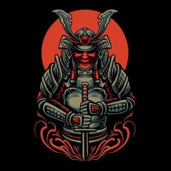 L'illustrazione del samurai ronin perduto