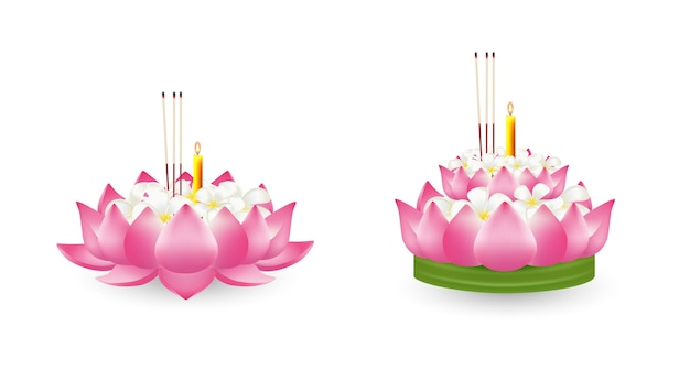 Fiore di loto, illustrazione realistica.