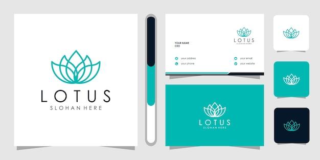 Modello di logo di progettazione di fiori di loto