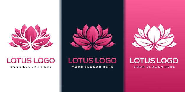 Modello di progettazione di logo di loto