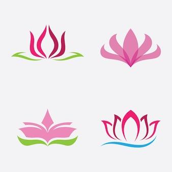 Illustrazione di vettore dell'icona del logo del loto