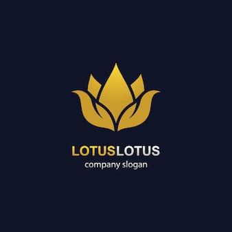 Icona del modello di logo di loto