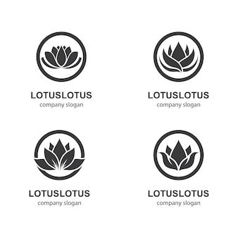 Modello di logo di loto