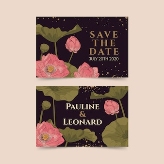 Lotus save to date card