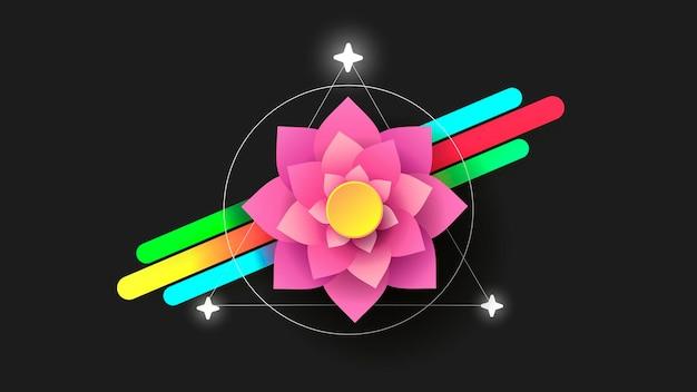 Yoga del simbolo del loto. logo di loto vettore. marchio di bellezza. emblema di vettore. illustrazione di affari di vettore. illustrazione di vettore arte. illustrazione vettoriale astratta.