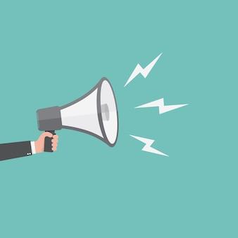 Icona dell'altoparlante o del megafono