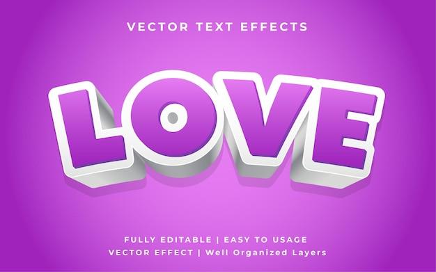 Amo gli effetti di testo vettoriale 3d