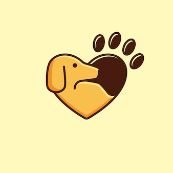 Love animal logotype