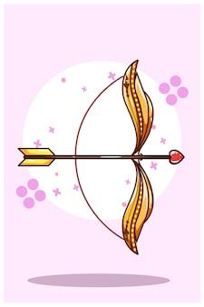 Freccia di amore, illustrazione di tema di san valentino