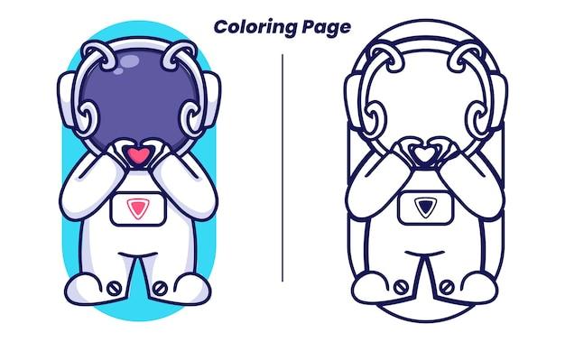 Adoro l'astronauta con le pagine da colorare