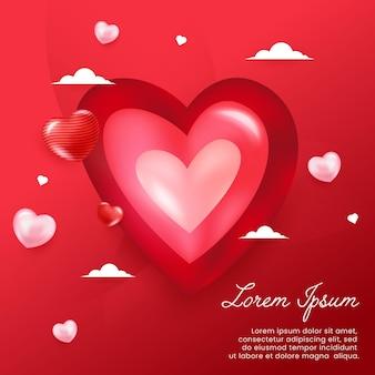 Sfondo di amore per un momento romantico