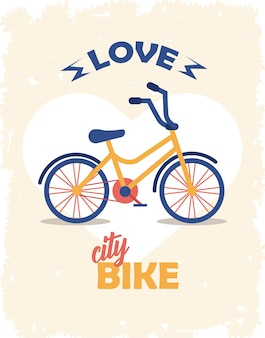 Poster d'amore in bici