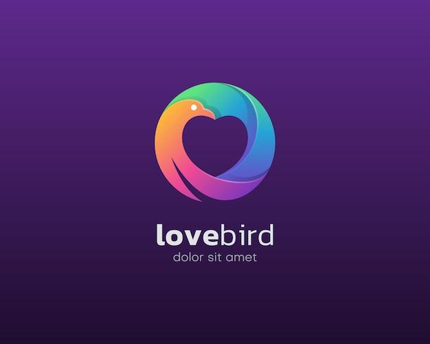 Logo dell'uccello amore