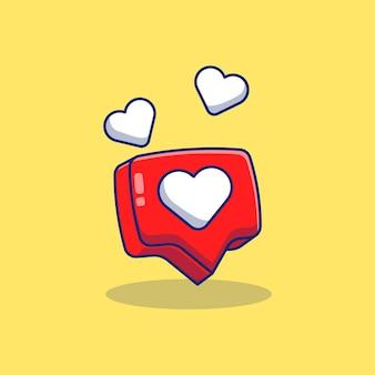 Amore bolla chat illustrazione vettoriale design