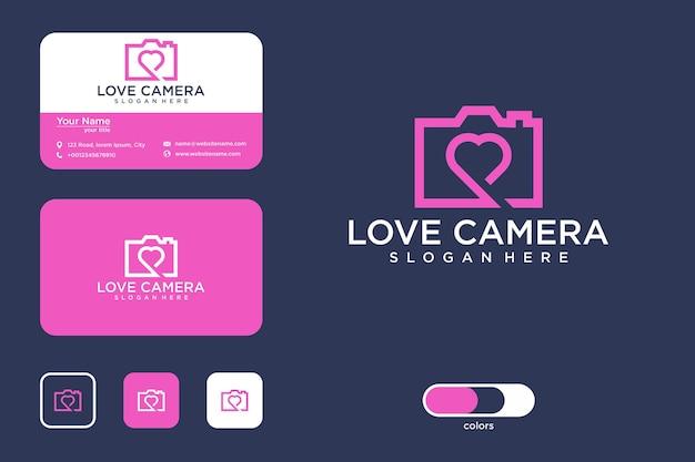 Amo il design del logo della fotocamera e il biglietto da visita