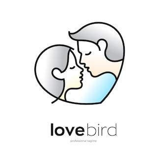 Amore coppia logo design