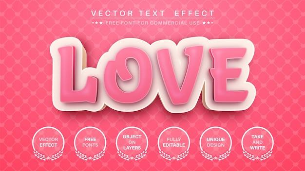 Amore modifica lo stile del carattere dell'effetto del testo