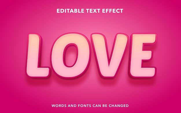 Amo lo stile di effetti di testo modificabile