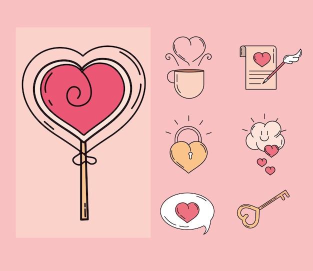 Insieme di elementi di amore