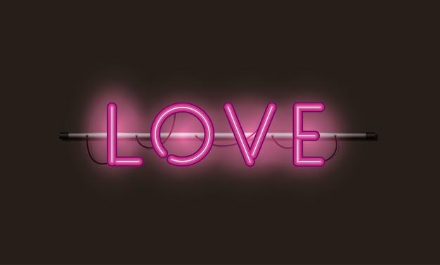 Love fonts luci al neon