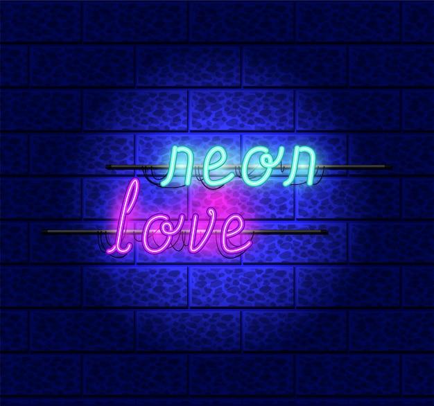 Luci d'amore al neon